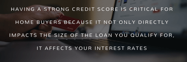 Having a strong credit score is critical for home buyers because it not only directly impacts the size of the loan you qualify for, it affects your interest rates. CoreTitle Title Insurance Real Estate