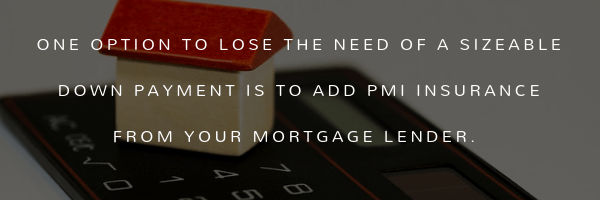ONE OPTION TO LOSE THE NEED OF A SIZABLE DOWN PAYMENT IS TO ADD PMI INSURANCE FROM YOUR MORTGAGE LENDER. CoreTitle Title Insurance Real Estate