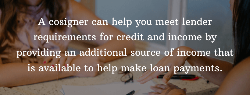 a cosigner can help you secure a loan