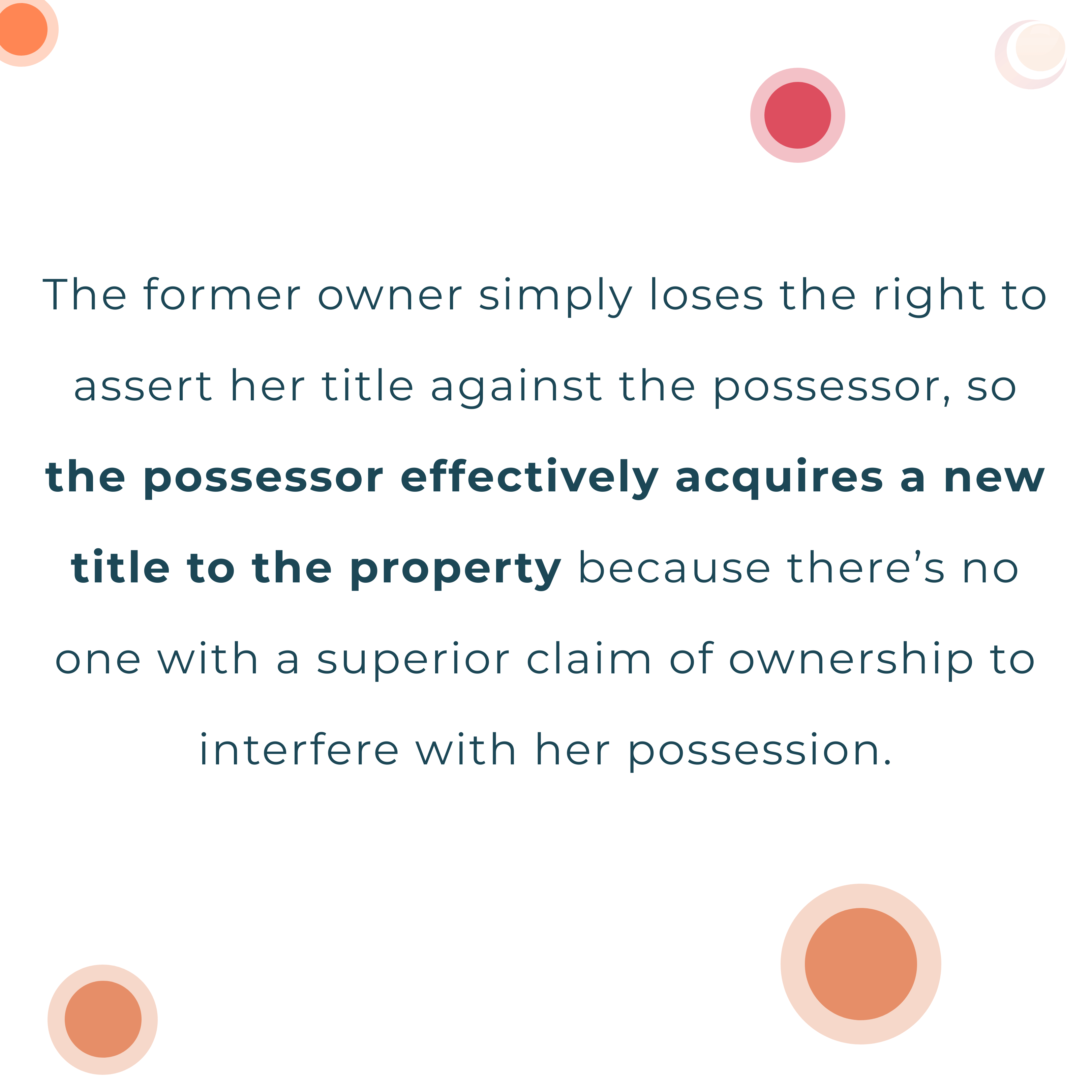 acquire title to a property you don't own